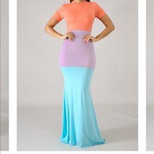 Multicolor Mermaid Maxi
